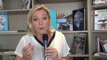 """FN: """"Nous ne sommes pas à la droite de la droite"""", selon Marine Le Pen"""
