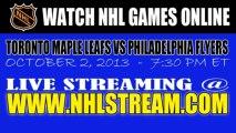 Watch Toronto Maple Leafs vs Philadelphia Flyers Game Online Video Streaming