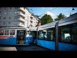 Tram crash: Two trams collide in Gothenburg, Sweden, injuring eight