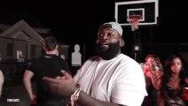 RICK ROSS - With Dj Khaled, Meek Mill & French Montana Bet $120K On 5 Basketball Shots! 02/10/2013 (HD).