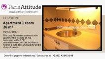 Studio Apartment for rent - Batignolles, Paris - Ref. 1138