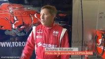 Antonio Albacete se prepara para el Gran Premio de Camiones de España con el camión CEPSA-MAN