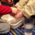 The washing of feet or foot washing and anointing is a powerful experience through messenger bootcamp.