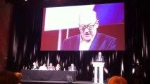 Didier Paillard maire de Saint-Denis ouvre la rencontre nationale des animateurs de section.