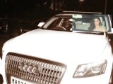 Alia Bhatt snapped with her Audi car in Bandra Mumbai