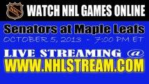 Watch Ottawa Senators vs Toronto Maple Leafs Live NHL Game Online