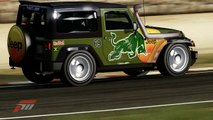 jeep Wrangler vs Peugeot 205 vs Honda S2000 - chemical brothers dance music remix - Forza Motorsports part 69 HD