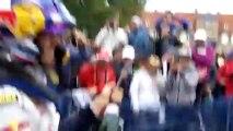 Rallye de France en Alsace 2013 : Ogier arrose les spectateurs à Haguenau le 6 octobre