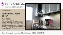 Studio Apartment for rent - Canal St Martin, Paris - Ref. 7622