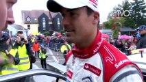 Rallye WRC : 1er passage au point de contrôle d'Oberhoffen