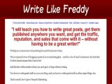 """""""Write Like Freddy = Great Commissions, Conversions, Epc & Aff Support"""""""