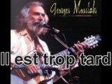 """Il est trop tard de """"Georges Moustaki""""  (Chant et harmonica)"""