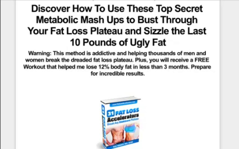 Fat Loss Accelerators | Fat Loss Workouts