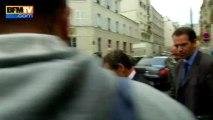Le sourire de Nicolas Sarkozy après l'annonce du non-lieu dans l'affaire Bettencourt 07/10