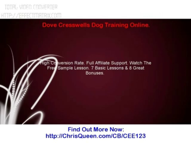 Dove Cresswells Dog Training Online.