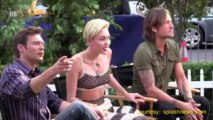 Miley Cyrus Films S3X Tape At SNL 2013 -- Saturday Night Live Miley Cyrus Performance