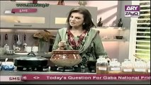 Zauq Zindagi with Sara Riaz and Dr. Khurram Musheer, Beef Cannelloni, Mutton Green Handi & Baked Berry Cheese Cake, 8-10-13, Part 1 of 2