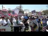 Tens of thousands of immigrants call for immigration reform at Capitol