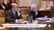 Obama To Nominate Yellen As Bernanke Successor