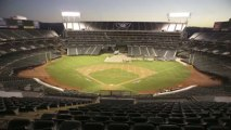 Converting the Oakland Coliseum Baseball to Football!! Time Lapse - Atheltics to Raiders