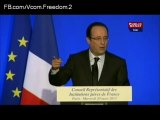 François Hollande au diner du CRIF 2013 (Iran-Syrie-Hezbollah-Qaïda-Israel)
