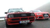 Im Vergleich: Der neue Audi RS 6 Avant und der Audi Sport quattro, Baujahr 1984