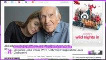 Angelina Jolie Poses With 'Unbroken' Inspiration Louis Zamperini