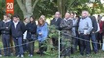 Prix Bayeux-Calvados 2013 : dévoilement de la stèle au mémorial des reporters
