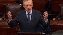 """Shame on"" GOP senators threatening to block gun votes, Reid says"