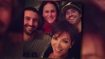 Kris Jenner Cuddles Up to Estranged Husband Bruce and His Sons Brody and Brandon