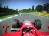 Schumacher Commentates his Pole lap at San Marino  GP 2006