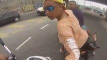 Voleur de moto se fait tirer dessus au Brésil