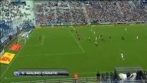 Gol Mauro Zárate  Vélez 1   Olimpo 0  Fecha 11  Torneo Inicial  Fútbol Para Todos