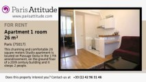 Studio Apartment for rent - Porte Maillot/Palais des Congrès, Paris - Ref. 2767