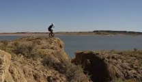 Unicycle huge jump over large rift.. FAIL!! Extreme Sports - BMX
