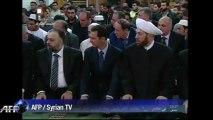 Syrie: Assad dans une mosquée de Damas pour l'Aïd al-Adha