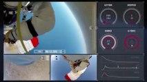 Red Bull Stratos filmé sous 3 angles (saut record de Felix baumgartner)