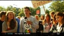 Blocus des lycéens du lycée Bellevue de Toulouse