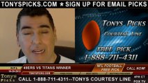 Tennessee Titans vs. San Francisco 49ers Pick Prediction NFL Pro Football Odds Preview 10-20-2013