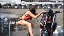 Sexy Motorcycle Wash Fail