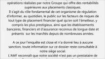 REVEL GROUPE l'AMF reconnait Revel groupe comme société de capital investissement