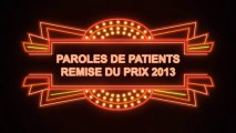 Lauréat 2013 - Prix Paroles de Patients