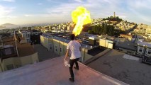 Fire Breather filmed with GoPro and 24 GoPro Array