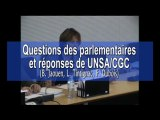 Questions des parlementaires et réponses UNSA/CGC