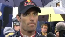 BBC F1 2010: Mark Webber post race interview (2010 Belgian Grand Prix)