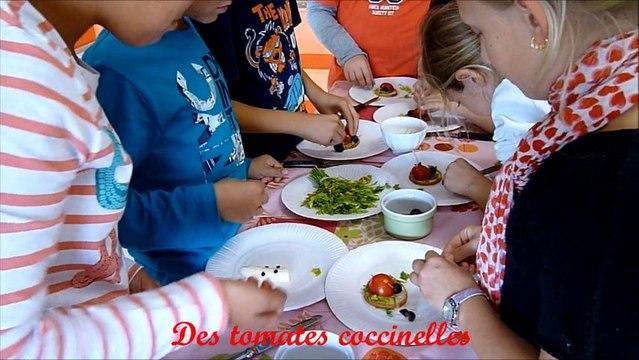 ateliers Food Art Les aliments animés école au Lavandou