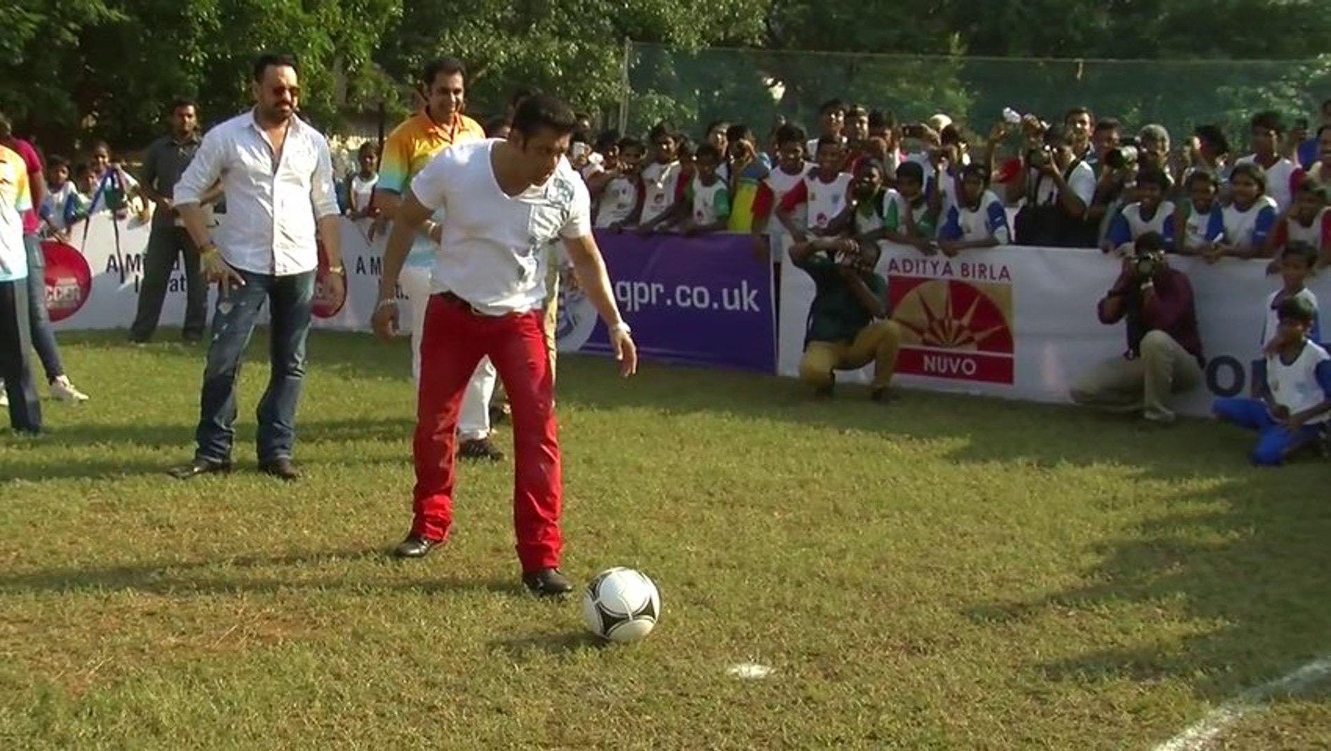 Salman Plays Football With Kids