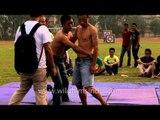 Naga wrestling Mannia : At the 50th Naga Fest'13-Delhi