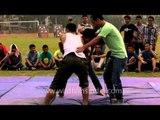Men's wrestling competition : At the 50th Naga Fest'13-Delhi