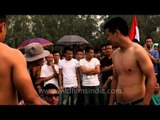Cheer for the winners at arm wrestling competition - Naga Fest'13
